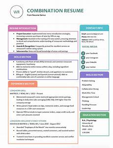 How To Write A Combination Resume Combination Resume Template Examples Amp Writing Guide