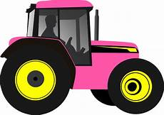 clipart images tractor pinkyellow clip at clker vector clip
