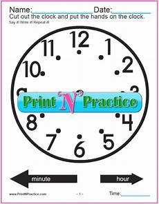 Clock Printout Clock Worksheet Set Cut And Color Digital Analog