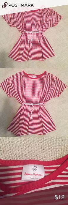 Andersson Size Chart 130 Andersson Striped Dolman Top Size 130 Euc Red And