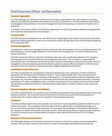 Deputy Ceo Roles And Responsibilities Free 8 Sample Ceo Job Description Templates In Pdf Ms Word