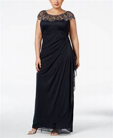 Xscape Plus Size Dresses Size Chart Xscape Synthetic Plus Size Embellished Beaded Yoke Gown In