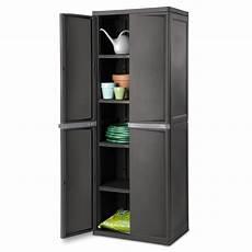 2 door plastic cabinet heavy duty 4 shelf lockable utility