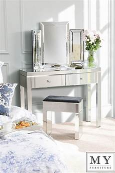 luxury mirrored dressing console table 4 legs ebay