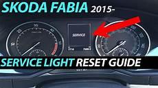 Skoda Fabia Oil Warning Light Skoda Fabia 2014 Service Inspection Oil Light Reset Youtube