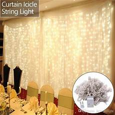 Dangling Fairy Lights Garden Party Lights 6m X 3m 600 Led Curtain String Light
