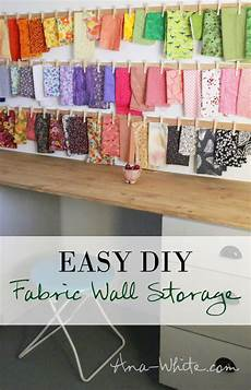 white clothespin fabric storage rails diy projects
