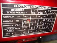Dc Welding Rod Chart Welding Tips And Tricks View Topic Lincoln Electric Ac