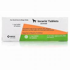 Proin Dosage Chart Incurin Tablets Urinary Incontinence Petcarerx