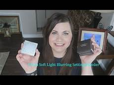 Becca Soft Light Powder Becca Soft Light Blurring Setting Powder Youtube