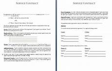 Generic Contract For Services Free Printable It Service Agreement Template Form Generic