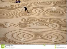 Sand Design Sand Art At Tolcarne Beach Newquay Editorial Image