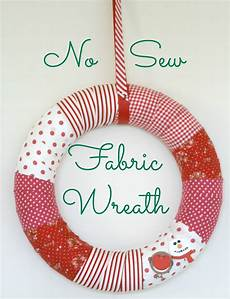 fabric crafts no sew diy no sew fabric wreath for the homemakery