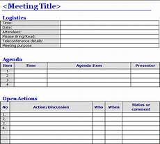 Microsoft Meeting Minutes Template 6 Meeting Minutes Templates Excel Pdf Formats