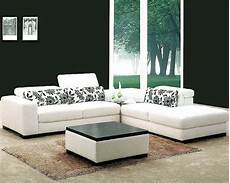 white fabric 4pc modern sectional sofa set 44l0867