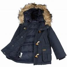 baby coats ralph ralph boys navy blue padded parka coat