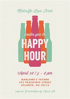 Happy Hour Invite Wording Bottled Happy Hour Invitations In Creme Happy Hour And