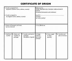 Generic Certificate Of Origin Template Free 15 Sample Certificate Of Origin Templates In Pdf