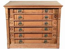 beautiful six drawer spool cabinet with original decals at