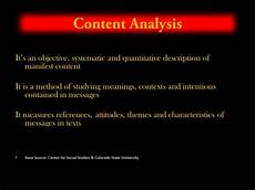 Content Analysis Example Research Methods Content Analysis Youtube