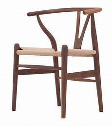 American Furniture Designs Panama Wishbone Y Chair Hans Wegner Style In Walnut Finish
