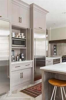 kitchen coffee station with fold in doors contemporary