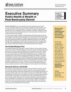 Executive Summary Report Executive Summary Public Health Amp Wealth In Post