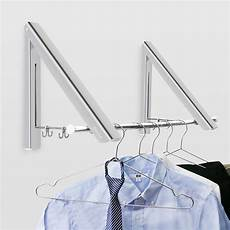clothes rack foldable becko wall mounted clothes hanger aluminum folding drying