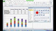 How Do You Make A Chart In Excel 2013 How To Create A Stacked Chart In Excel 2010 Youtube