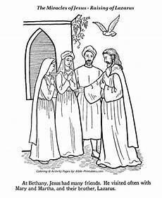 The Raising Of Lazarus Coloring Pages