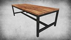 Rustic Wood Sofa Table 3d Image by Rustic Wood Table 03 3d Model Cgtrader