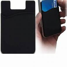 5pcs silicone wallet sleeve adhesive credit card id holder