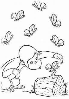 ausmalbilder coco der neugierige affe malvorlagen ausdrucken 2