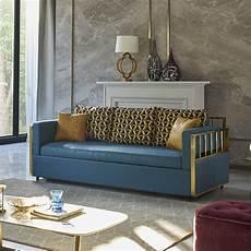 modern wood bunk bed sleeper sofa blue upholstered