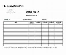 Daily Work Status Report Format Status Report Template Free Business Templates