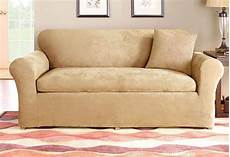 stretch suede three with back cushion sofa slipcover