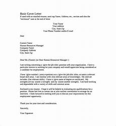 Basic Sample Resume Cover Letter 54 Simple Cover Letter Templates Pdf Doc Free