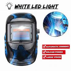 Led Lights For Welding Helmet Solar Power Automatic Dimming Welding Helmet Welders Len