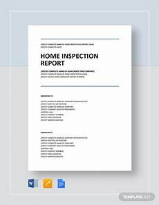 Home Inspection Report Template Free Free 12 Sample Home Inspection Reports In Ms Word Apple