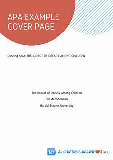 What Is A Cover Page For A Report Much Needed Apa Example Cover Page You Should Never Miss