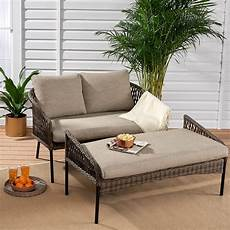 2 person outdoor daybed sleeper sofa wicker cushioned day