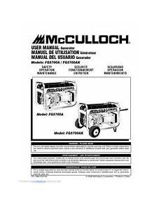 Mcculloch Fg5700ak Manuals
