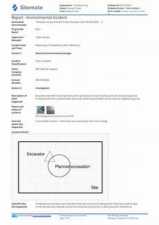 Project Management Incident Report Template Environmental Incident Report Form Template Use This Free