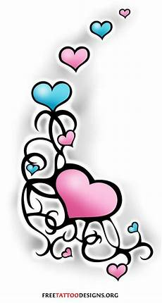 Heart With Ribbon Designs 55 Heart Tattoos Love And Sacred Heart Designs