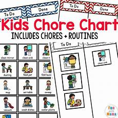 Chore Chart Pictures Kids Chore Chart Fun With Mama