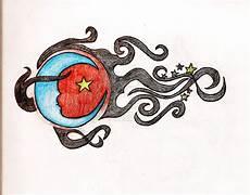 Moon And Stars Design Like Shooting Star Design Tattoomagz