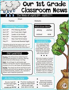 Examples Of Newsletters For Parents From Teachers Parent Communication 1st Grade The Brown Bag Teacher