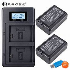 Palo Power Battery Charger Dual by Palo 2pcs 2000mah Np Fw50 Np Fw50 Battery Lcd Usb