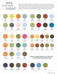 Best Look Paint Color Chart Stamping Smiles 2010 2011 Stampin Up Color Combinations