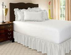 1 microfiber solid bed ruffle skirt 14 inch drop